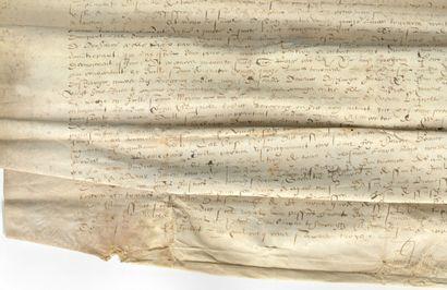 [SOLOGNE]. Parchemin. [Gien, 3 juillet 1563]....