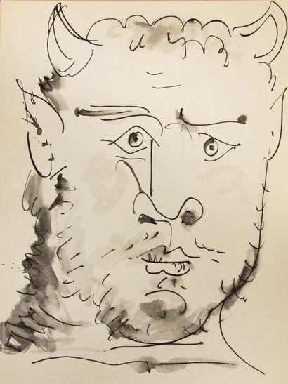 PICASSO (P). 40 dessins en marge de Buffon....