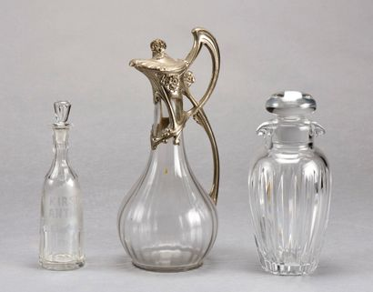 Set consisting of a moulded glass jug with...