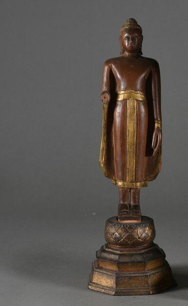 THAILANDE - XIXe siècle  Bouddha debout en...