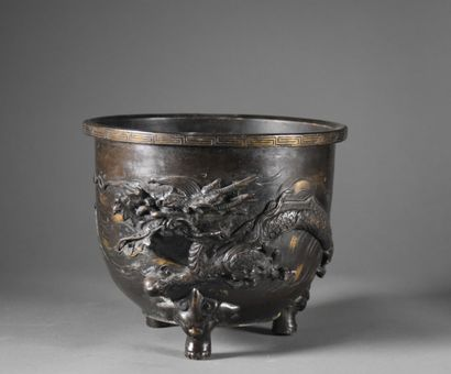 JAPAN - MEIJI period (1868-1912)  A brown...