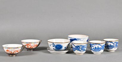 VIETNAM - Vers 1900  Ensemble en porcelaine...