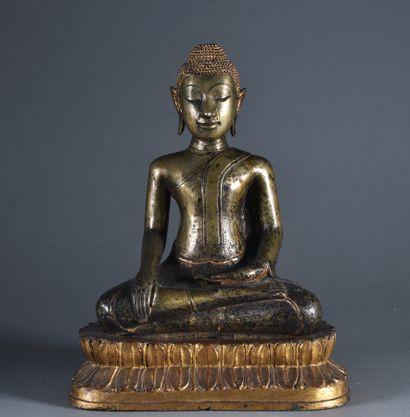 THAILANDE - Fin du XIXe siècle  Grand Bouddha...