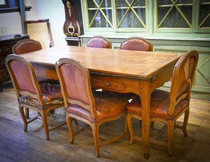 Suite de six chaises de salle à manger en...