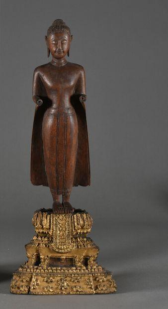 THAILANDE - Vers 1900  Bouddha debout en...