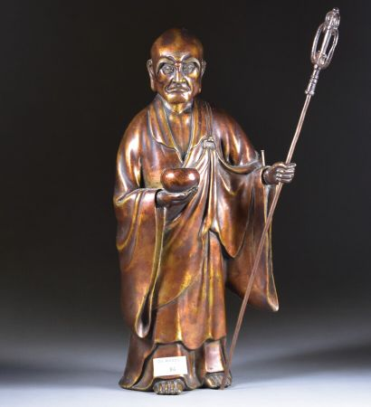JAPON - Fin d'époque EDO (1603-1868)  Moine...