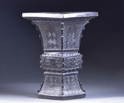 JAPAN - Late 19th century  Ceremonial vase...