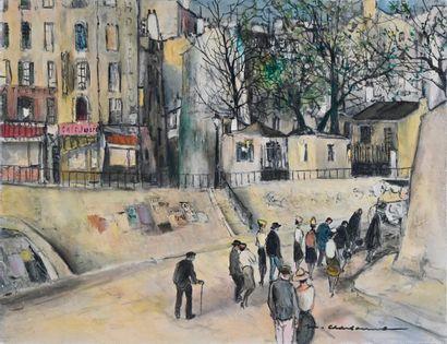 Marcel CHARBONNEL (1901-1981)  Le petit corbillard...