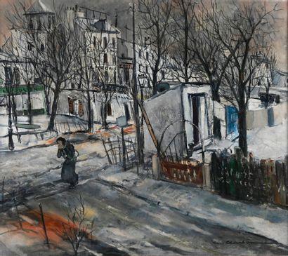 Marcel CHARBONNEL (1901-1981)  Rue sous la...