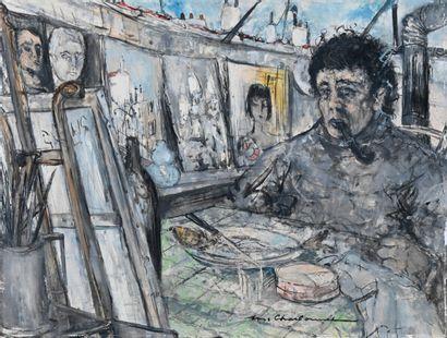 Marcel CHARBONNEL (1901-1981)  Le peintre,...