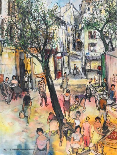 Marcel CHARBONNEL (1901-1981)  Place de Lenche...
