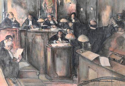 Marcel CHARBONNEL (1901-1981)  Correctionnelle,...