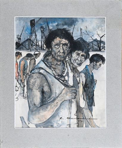 Marcel CHARBONNEL (1901-1981)  La mine, 1957...