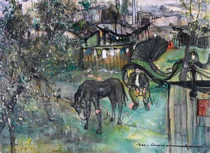 Marcel CHARBONNEL (1901-1981)  Panorama à...
