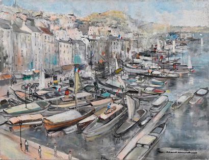 Marcel CHARBONNEL (1901-1981)  Le Vieux-Port...