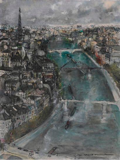 Marcel CHARBONNEL (1901-1981)  Le Seine à...