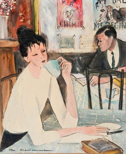 Marcel CHARBONNEL (1901-1981)  Le bar des...