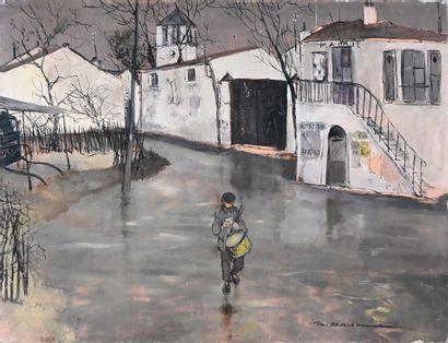 Marcel CHARBONNEL (1901-1981)  Le village...