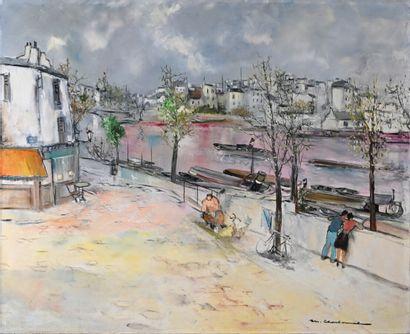 Marcel CHARBONNEL (1901-1981)  Bord de Seine...