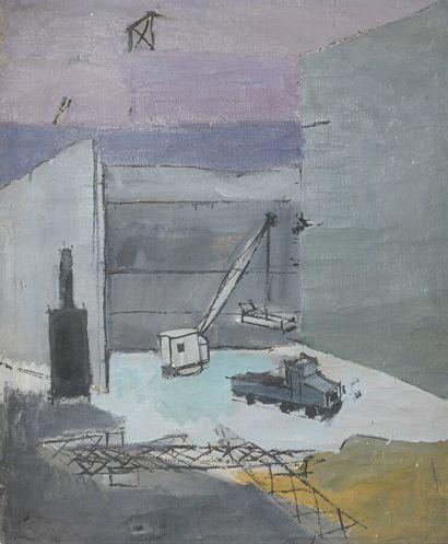 Émile LAFAMÉ (Émile BOGAERT, dit) (1934-2017)  Nu allongé, Bruxelles, 1957  Huile...