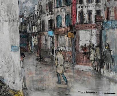 Marcel CHARBONNEL (1901-1981)  Rue Quincampoix...