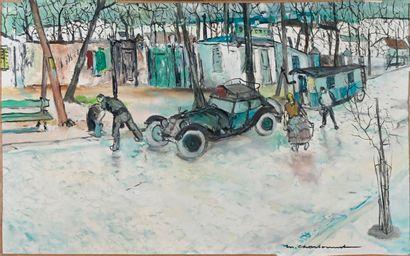 Marcel CHARBONNEL (1901-1981)  Les gens du...