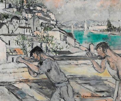 Marcel CHARBONNEL (1901-1981)  Les poseurs...