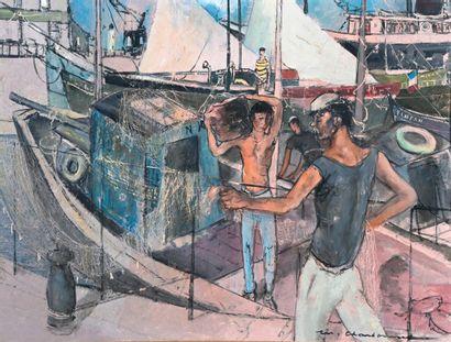 Marcel CHARBONNEL (1901-1981)  L'étendage...