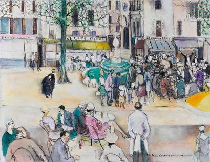 Marcel CHARBONNEL (1901-1981)  Le dimanche...