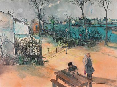 Marcel CHARBONNEL (1901-1981)  Chez le père...