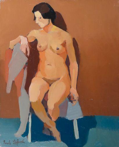 Émile LAFAMÉ (Émile BOGAERT, known as) (1934-2017)  Nude, 1965  Oil on canvas, signed...