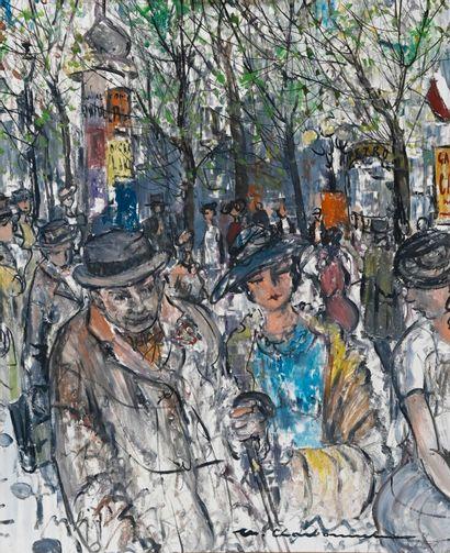 Marcel CHARBONNEL (1901-1981)  Le boulevardier...