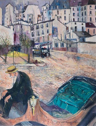 Marcel CHARBONNEL (1901-1981)  Le fiacre,...