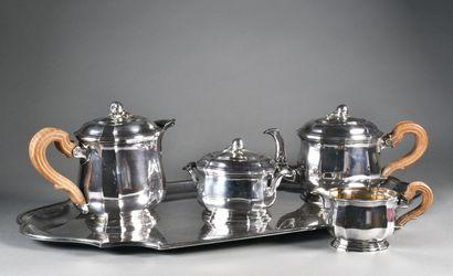 TETARD Frères  Important service à thé et...