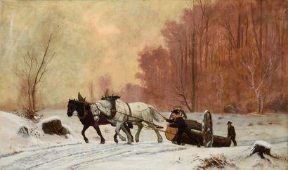 Claudius SEIGNOL (1858-1926)  Les bûcherons...