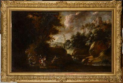 Ecole FLAMANDE vers 1660  Une attaque à main...