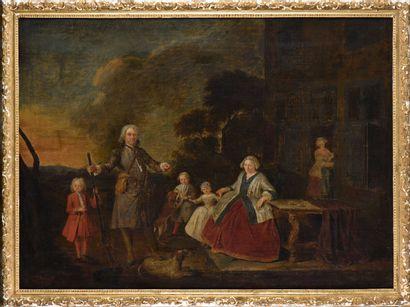 École HOLLANDAISE vers 1740  Portrait de...