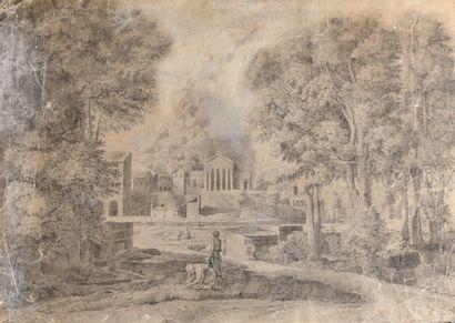 Ecole FRANCAISE du XIXème siècle  Paysage...