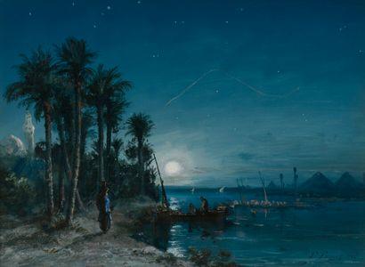 Paul PASCAL (vers 1839- vers1905)  Le Nil...