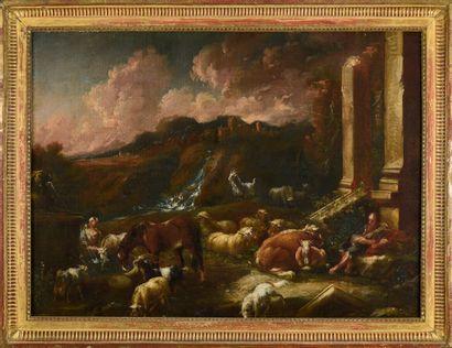 Johann Heinrich ROOS (1631-1685)  Troupeaux...