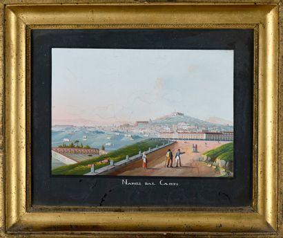 Ecole ITALIENNE du XIXème siècle  Napoli...