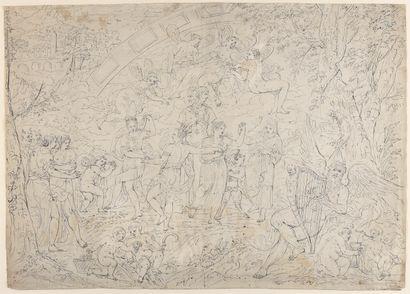 Ecole FRANCAISE vers 1700  Grande scène à...