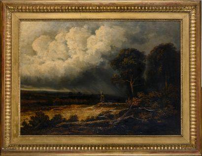 Georges MICHEL (1763-1843)  Paysage au moulin...