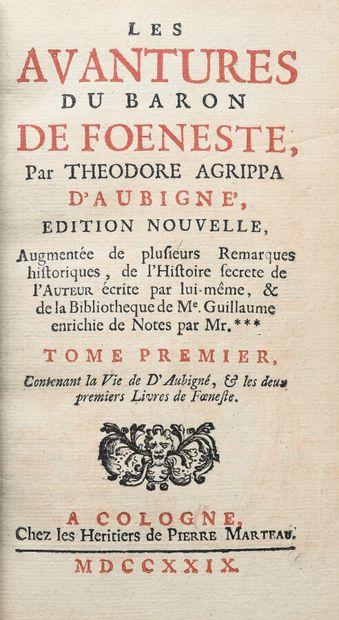 AUBIGNE (Théodore Agrippa d'). LES AVANTURES DU BARON DE FOENESTE.  Cologne, Les...