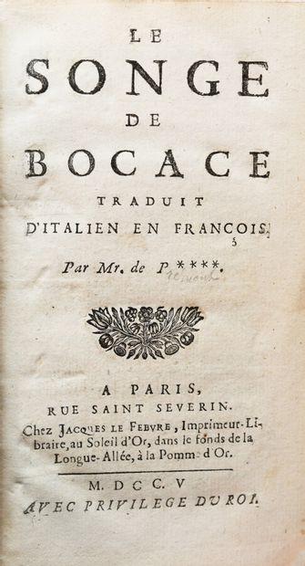 [BOCCACE PREMONT]. LE SONGE DE BOCACE. Traduit...