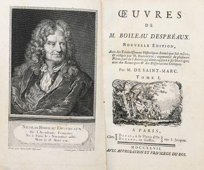 BOILEAU - DESPRÉAUX (N.). OEUVRES. Nouvelle édition avec les éclaircissements historiques...