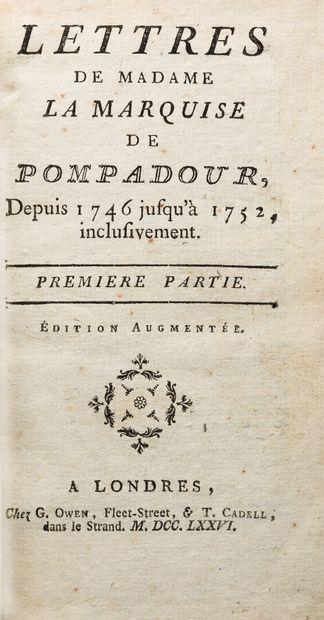[BARBÉ-MARBOIS (François)]. LETTRES DE MADAME...