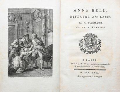 ARNAUD (François de Baculard d'). ANN BELL. HISTOIRE ANGLAISE.  Paris, Le Jay, 1769....