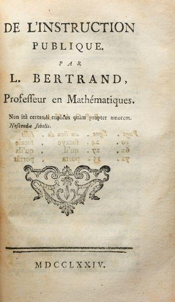 BALLEXSERD (Jacques). DISSERTATION SUR L'EDUCATION PHYSIQUE DES ENFANS, depuis leur...