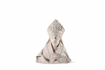 Moulage de buste d'évêque